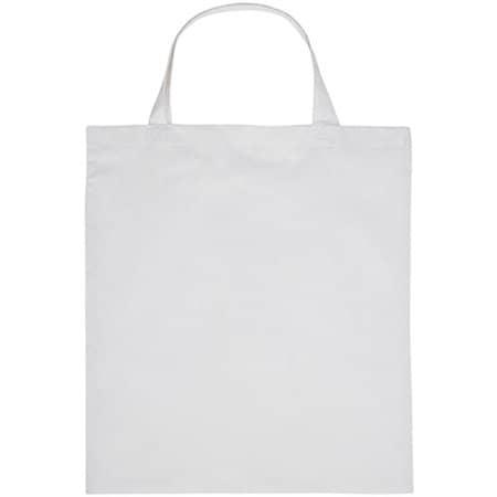 Cotton Bag Short handles in White von Printwear (Artnum: XT902