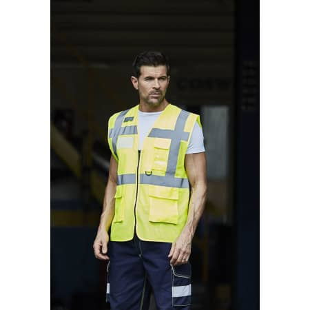 Hi Vis Top Cool Open Mesh Executive Waistcoat von YOKO (Artnum: YK820