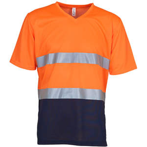 Hi Vis Top Cool Super Light V-Neck T-Shirt