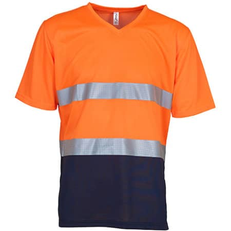 Hi Vis Top Cool Super Light V-Neck T-Shirt von YOKO (Artnum: YK910