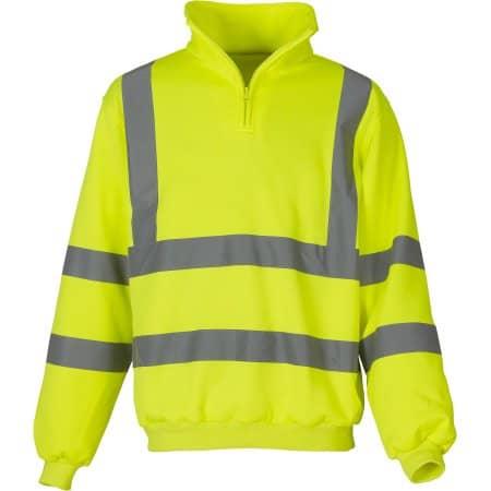 Hi Vis 1/4 Zip Sweatshirt in Hi-Vis Yellow von YOKO (Artnum: YKK06