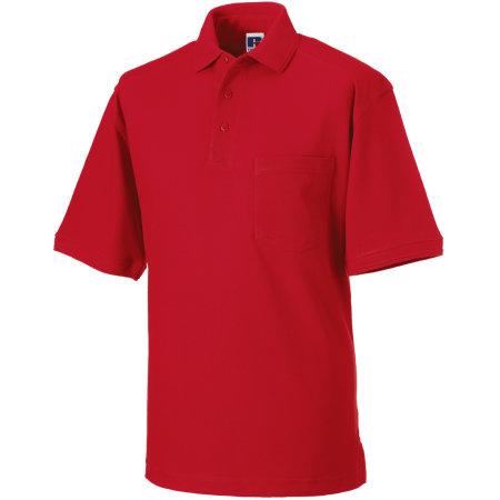 Workwear-Poloshirt in Classic Red von Russell (Artnum: Z011