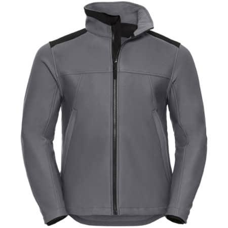 Workwear Soft Shell Jacket in Convoy Grey von Russell (Artnum: Z018