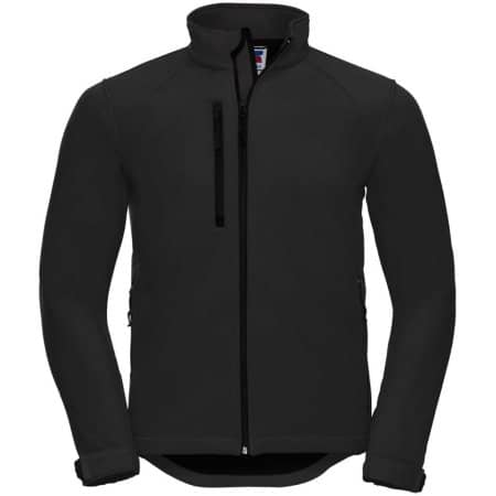 Softshell-Jacket in Black von Russell (Artnum: Z140