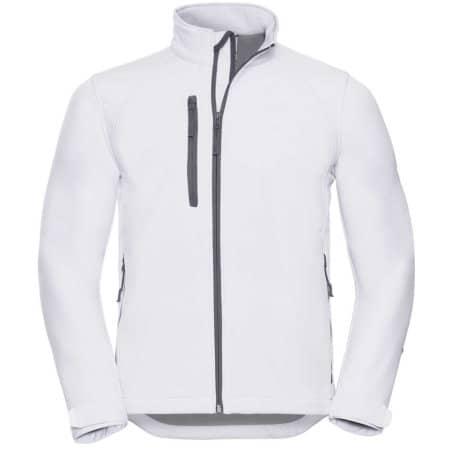 Softshell-Jacket in White von Russell (Artnum: Z140