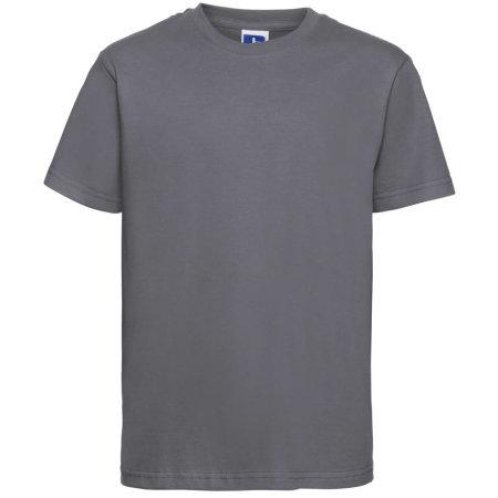 Kids` Slim T-Shirt in Convoy Grey (Solid) von Russell (Artnum: Z155K