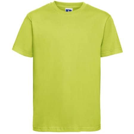 Kids` Slim T-Shirt in Lime von Russell (Artnum: Z155K