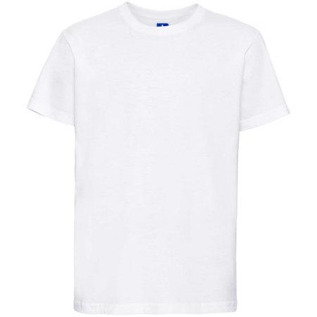 Kids` Slim T-Shirt in White von Russell (Artnum: Z155K