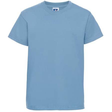 Kids` Silver Label T-Shirt in Sky von Russell (Artnum: Z180K