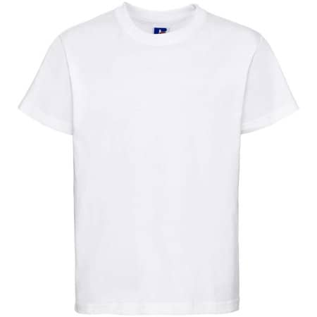 Kids` Silver Label T-Shirt in White von Russell (Artnum: Z180K