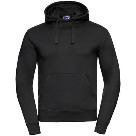 Authentic Hooded Sweat in Black von Russell (Artnum: Z265