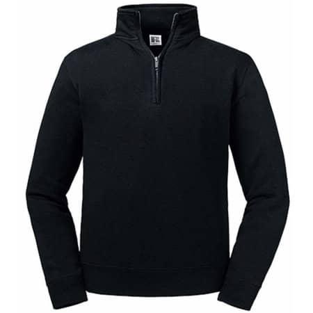 Authentic 1/4 Zip Sweat in Black von Russell (Artnum: Z270M