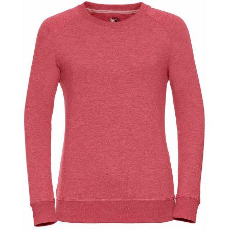 Ladies` HD Raglan Sweat in Red Marl von Russell (Artnum: Z280F