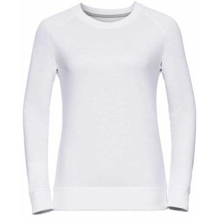 Ladies` HD Raglan Sweat in White von Russell (Artnum: Z280F