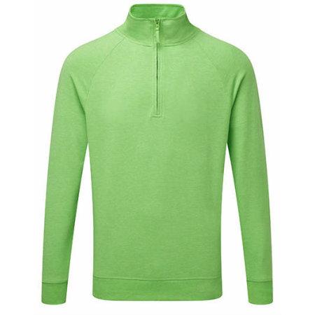 Men`s HD 1/4 Zip Sweat in Green Marl von Russell (Artnum: Z282M
