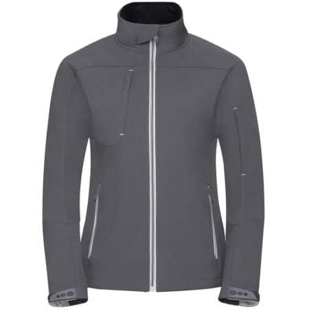 Ladies` Bionic Softshell Jacket in Iron Grey von Russell (Artnum: Z410F