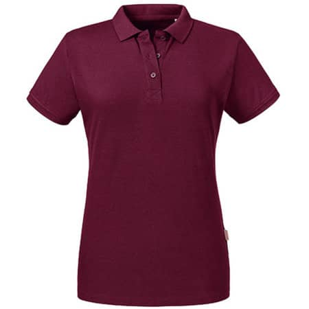 Ladies´ Pure Organic Polo in Burgundy von Russell Pure Organic (Artnum: Z508F