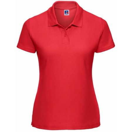 Ladies` Poloshirt 65/35 in Bright Red von Russell (Artnum: Z539F