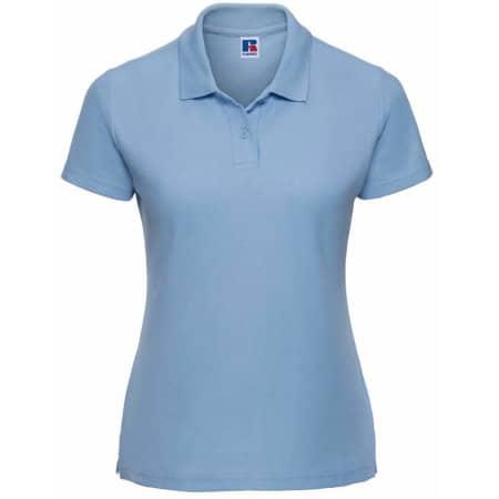 Ladies` Poloshirt 65/35 in Sky von Russell (Artnum: Z539F