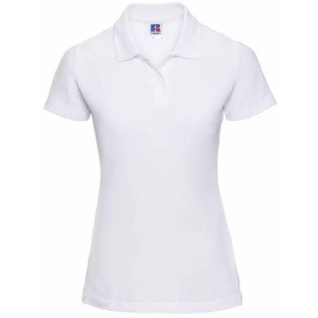 Ladies` Poloshirt 65/35 in White von Russell (Artnum: Z539F