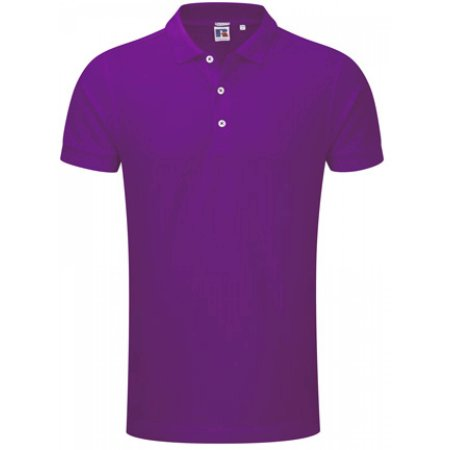 Men`s Stretch Polo in Ultra Purple von Russell (Artnum: Z566