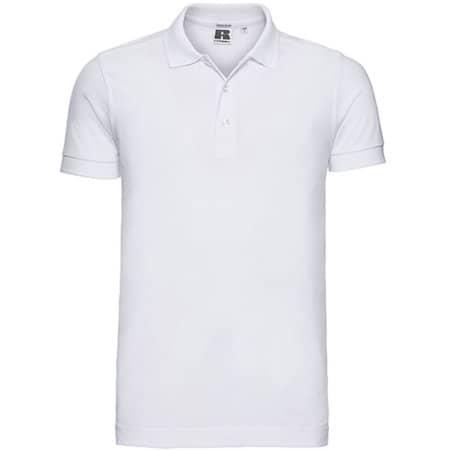 Men`s Stretch Polo in White von Russell (Artnum: Z566