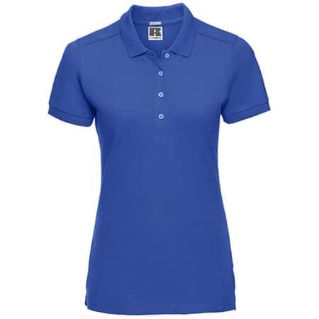 Ladies` Stretch Polo in Azure Blue von Russell (Artnum: Z566F