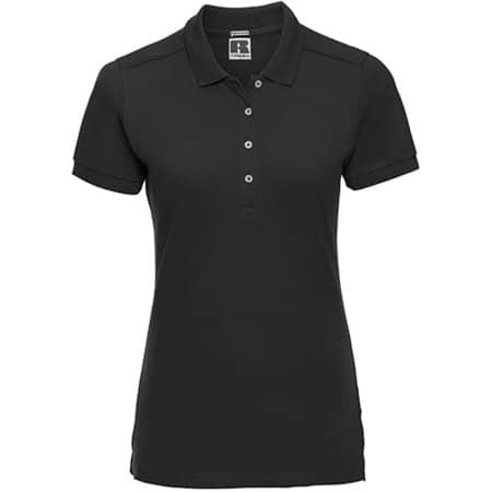 Ladies` Stretch Polo in Black von Russell (Artnum: Z566F