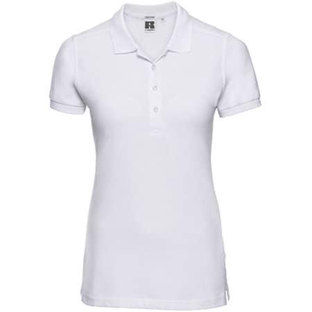 Ladies` Stretch Polo in White von Russell (Artnum: Z566F