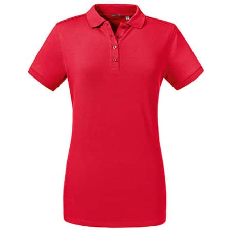 Ladies´ Tailored Stretch Polo in Classic Red von Russell (Artnum: Z567F