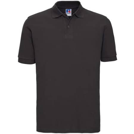 Men`s Classic Cotton Polo in Black von Russell (Artnum: Z569