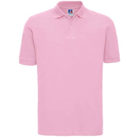 Men`s Classic Cotton Polo in Candy Pink von Russell (Artnum: Z569