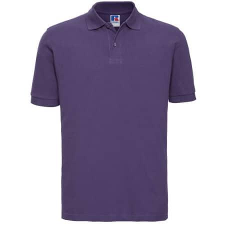 Men`s Classic Cotton Polo in Purple von Russell (Artnum: Z569