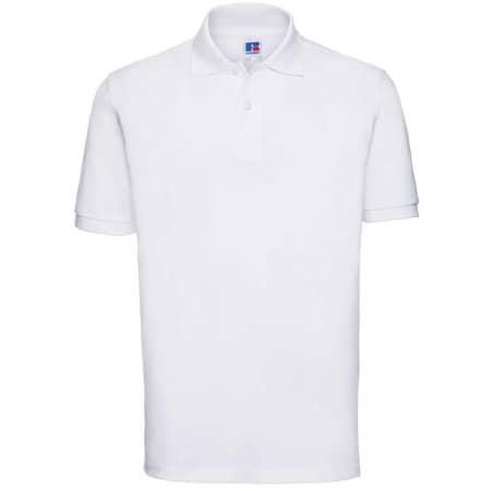Men`s Classic Cotton Polo in White von Russell (Artnum: Z569