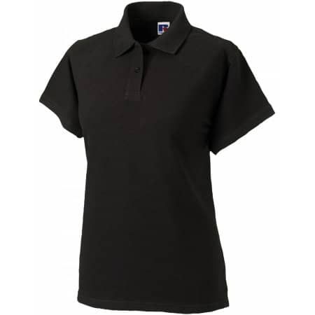 Ladies` Classic Cotton Polo in Black von Russell (Artnum: Z569F