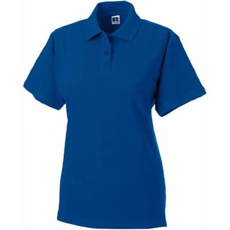 Ladies` Classic Cotton Polo in Bright Royal von Russell (Artnum: Z569F