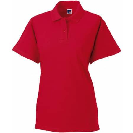 Ladies` Classic Cotton Polo in Classic Red von Russell (Artnum: Z569F