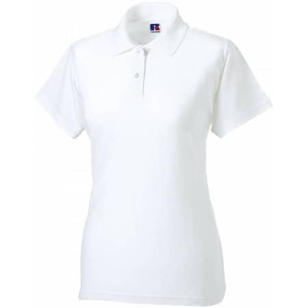 Ladies` Classic Cotton Polo in White von Russell (Artnum: Z569F