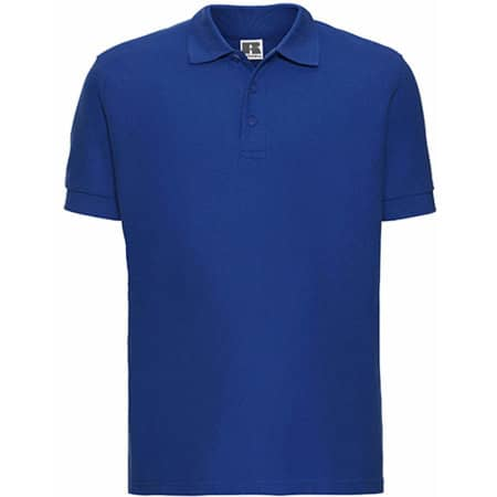 Men`s Ultimate Cotton Polo in Azure Blue von Russell (Artnum: Z577