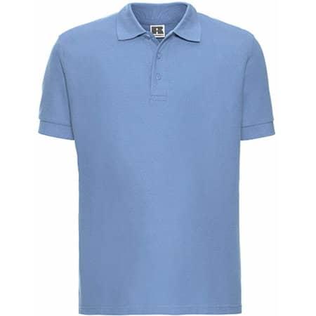 Men`s Ultimate Cotton Polo in Sky von Russell (Artnum: Z577
