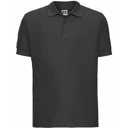 Men`s Ultimate Cotton Polo in Titanium (Solid) von Russell (Artnum: Z577
