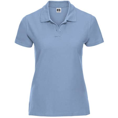 Ladies` Ultimate Cotton Polo in Sky von Russell (Artnum: Z577F