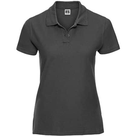 Ladies` Ultimate Cotton Polo in Titanium (Solid) von Russell (Artnum: Z577F