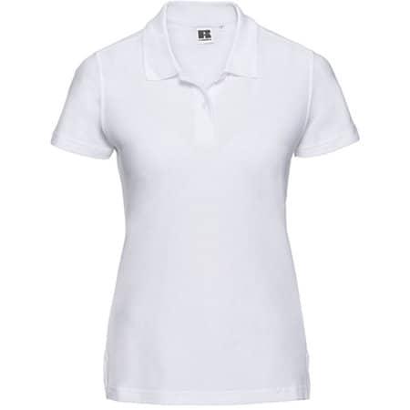 Ladies` Ultimate Cotton Polo in White von Russell (Artnum: Z577F