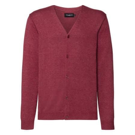 Men`s V-Neck Knitted Pullover von Russell Collection (Artnum: Z715M