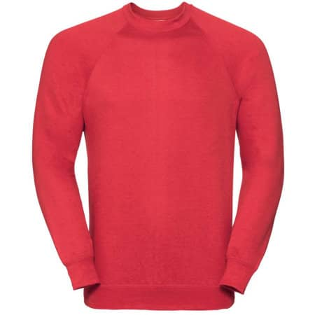 Raglan-Sweatshirt in Bright Red von Russell (Artnum: Z762