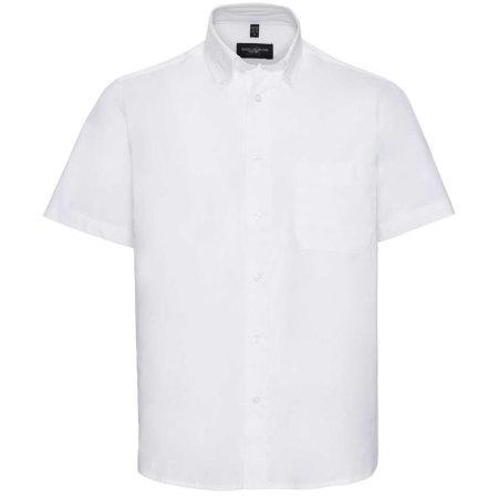 Men`s Short Sleeve Classic Twill Shirt in White von Russell Collection (Artnum: Z917