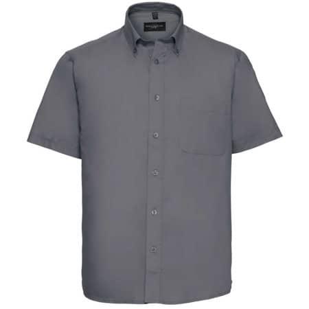 Men`s Short Sleeve Classic Twill Shirt von Russell Collection (Artnum: Z917