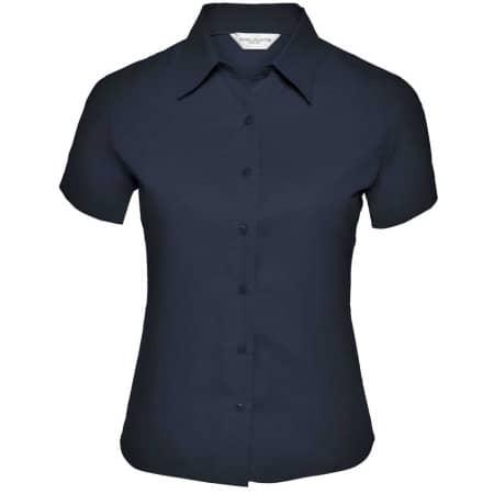 Ladies` Short Sleeve Classic Twill Shirt von Russell Collection (Artnum: Z917F
