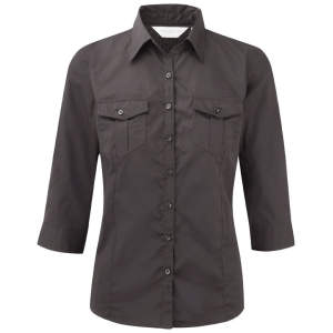 Ladies` Roll 3/4 Sleeve Twill Shirt